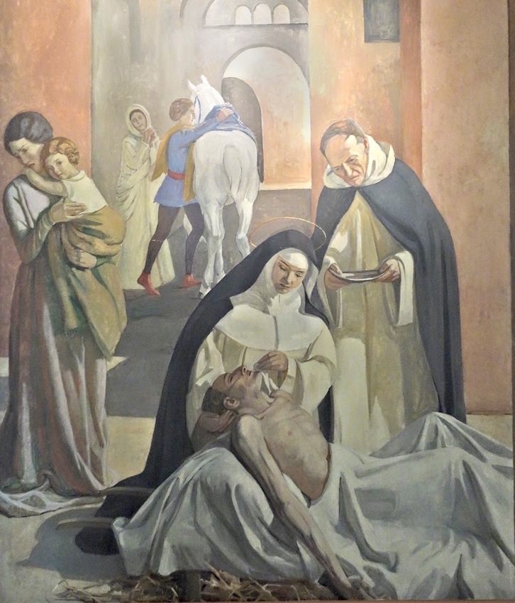 Catherine de Sienne soignant un pestiféré<br>Eglise Saint Dominique - Paris (14)